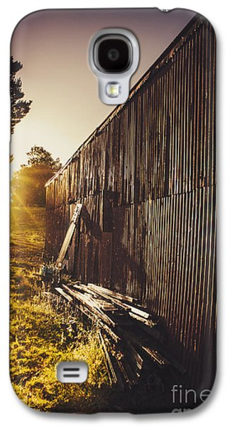 Shed Galaxy S4 Cases - Australian rural farm shed in Waratah Tasmania Galaxy S4 Case by Ryan Jorgensen