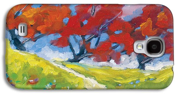 Canadiens Paintings Galaxy S4 Cases - Automn Trees Galaxy S4 Case by Richard T Pranke