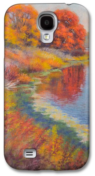 Landmarks Pastels Galaxy S4 Cases - Autumn Afternoon 3 Galaxy S4 Case by Fiona Craig