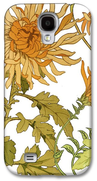 Mums Paintings Galaxy S4 Cases - Autumn Chrysanthemums I Galaxy S4 Case by Mindy Sommers
