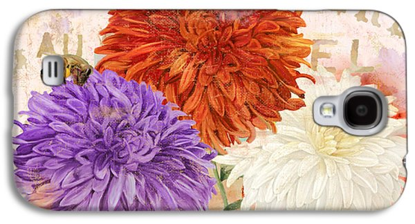 Mums Paintings Galaxy S4 Cases - Autumn Chrysanthemums Galaxy S4 Case by Mindy Sommers