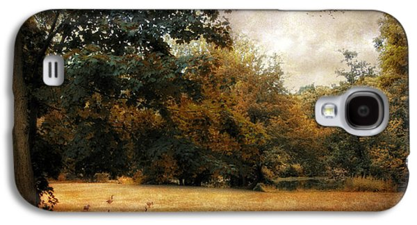 Autumn Foliage Photographs Galaxy S4 Cases - Autumn Geese Galaxy S4 Case by Jessica Jenney