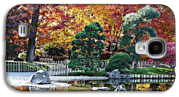 Bamboo Fence Galaxy S4 Cases - Autumn Glow in Manito Park Galaxy S4 Case by Carol Groenen