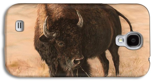 Bison Pastels Galaxy S4 Cases - Autumn Grazing Galaxy S4 Case by Marilyn Meyer