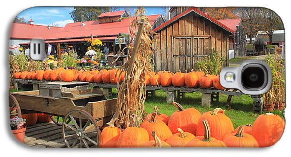 Farmstand Galaxy S4 Cases - Autumn Harvest Pumpkins and Sugar House Galaxy S4 Case by John Burk