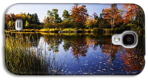 Reflections Of Sky In Water Galaxy S4 Cases - Autumn in Maine USA Galaxy S4 Case by Vishwanath Bhat