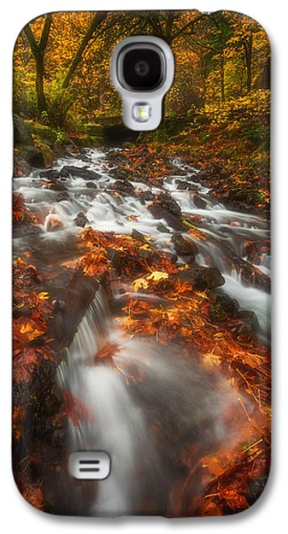 Landscape Acrylic Prints Galaxy S4 Cases - Autumn in the Gorge Galaxy S4 Case by Darren  White