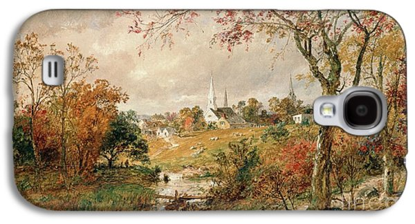 Town Paintings Galaxy S4 Cases - Autumn Landscape Galaxy S4 Case by Jasper Francis Cropsey