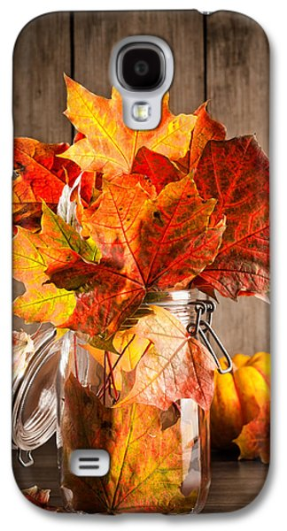 Interior Still Life Photographs Galaxy S4 Cases - Autumn Leaves Still Life Galaxy S4 Case by Amanda And Christopher Elwell