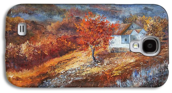 Smokey Mountains Paintings Galaxy S4 Cases - Autumn on the Hilltop Galaxy S4 Case by Tim Ford