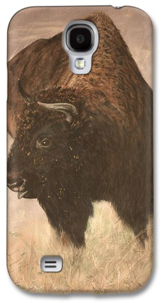 Bison Pastels Galaxy S4 Cases - Autumn on the National Bison Range Galaxy S4 Case by Marilyn Meyer