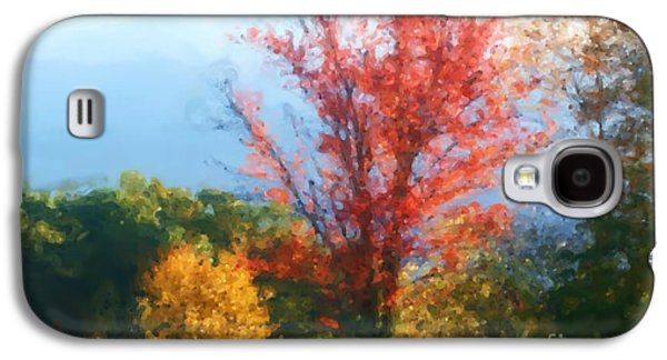 Photo Manipulation Pastels Galaxy S4 Cases - Autumn Red And Yellow Galaxy S4 Case by Smilin Eyes  Treasures