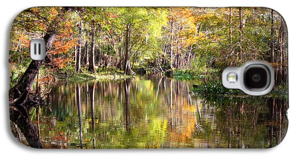 Reflections In River Galaxy S4 Cases - Autumn Reflection on Florida River Galaxy S4 Case by Carol Groenen