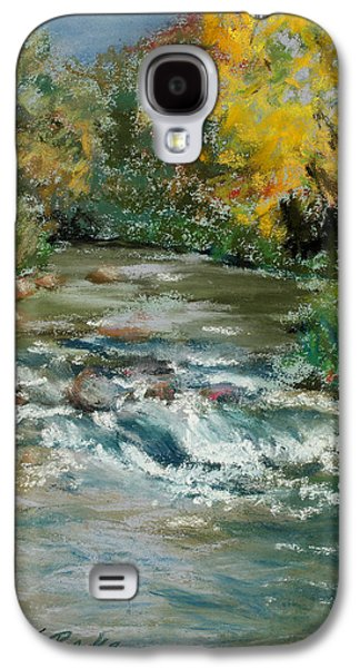 Waterscape Pastels Galaxy S4 Cases - Autumn Rush Galaxy S4 Case by Mary Benke