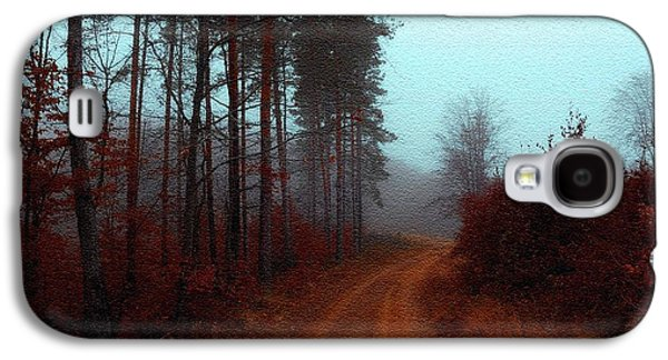 Abstract Digital Pastels Galaxy S4 Cases - Autumn Scene on a farm near Moscow H b Galaxy S4 Case by Gert J Rheeders