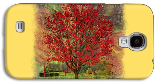 Abstract Digital Art Galaxy S4 Cases - Autumn Scenic 2 Galaxy S4 Case by John Bailey
