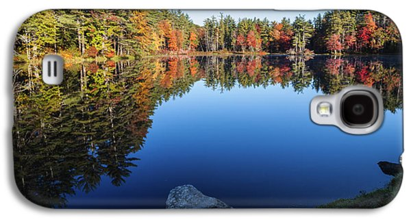 Reflections Of Sky In Water Galaxy S4 Cases - Autumn serenity in Maine USA Galaxy S4 Case by Vishwanath Bhat
