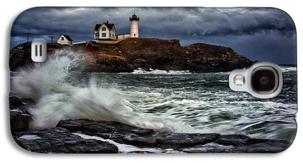 Nubble Lighthouse Galaxy S4 Cases - Autumn Storm at Cape Neddick Galaxy S4 Case by Rick Berk