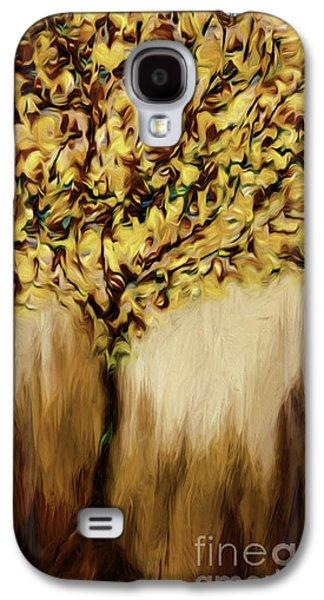 Abstract Digital Art Galaxy S4 Cases - Autumn Tree Galaxy S4 Case by Jean OKeeffe Macro Abundance Art