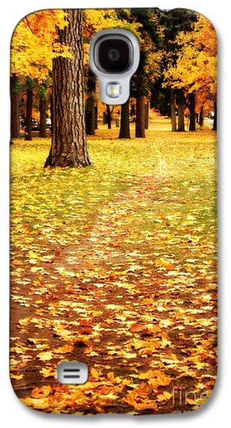 Landscapes Photographs Galaxy S4 Cases - Autumn Walk in Spokane Galaxy S4 Case by Carol Groenen