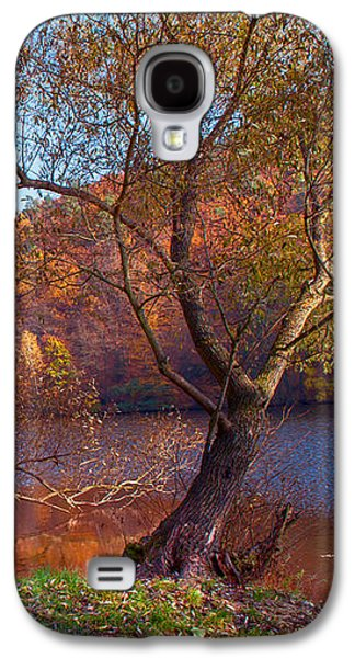 Autumnal Trees By The Lake Galaxy S4 Case by Jenny Rainbow
