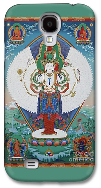Mystic Galaxy S4 Cases - Avalokiteshvara Lord of Compassion Galaxy S4 Case by Sergey Noskov