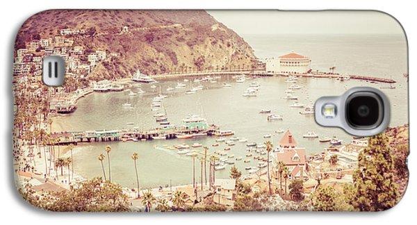 Avalon California Catalina Island Retro Photo Galaxy S4 Case by Paul Velgos