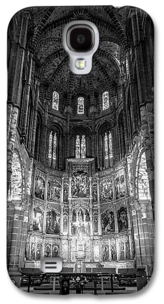 Avila Cathedral Bw Galaxy S4 Case by Joan Carroll