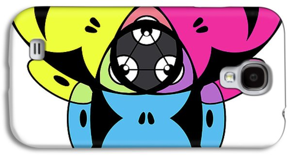 Ape Digital Art Galaxy S4 Cases - Awakened Ape Color Wheel Galaxy S4 Case by Peter Piatt
