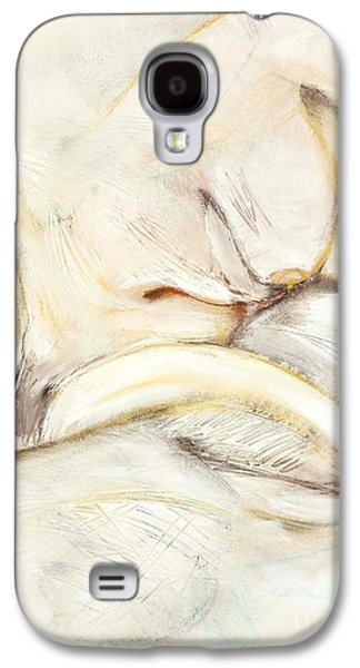 Contemplative Drawings Galaxy S4 Cases - Award Winning Abstract Nude Galaxy S4 Case by Kerryn Madsen-Pietsch