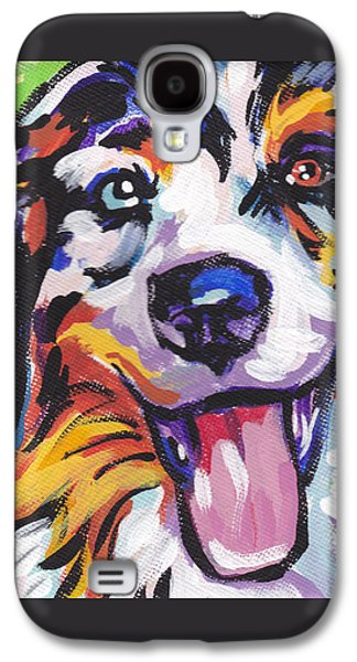 Puppies Galaxy S4 Cases - Awesome Aussie Galaxy S4 Case by Lea