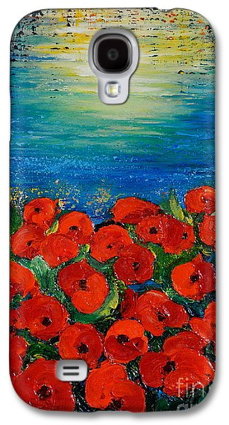 Sunset Abstract Galaxy S4 Cases - Life Is Like A Poem Galaxy S4 Case by Teresa Wegrzyn