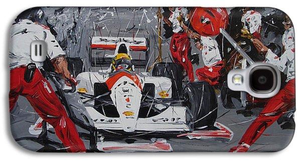 Ayrton Senna Pit Stop Galaxy S4 Case by Roberto Muccilo
