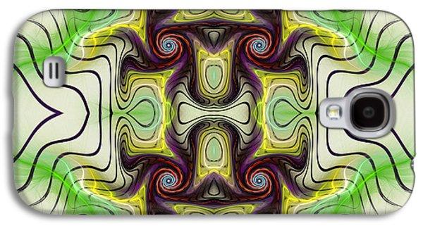 Deborah Benoit Galaxy S4 Cases - Aztec Art Design Galaxy S4 Case by Deborah Benoit