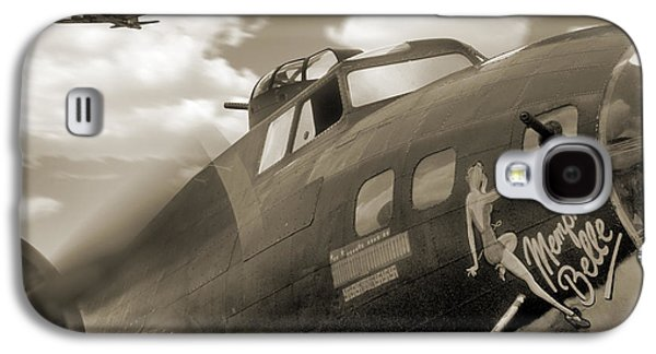 Warbird Galaxy S4 Cases - B - 17 Memphis Belle Galaxy S4 Case by Mike McGlothlen