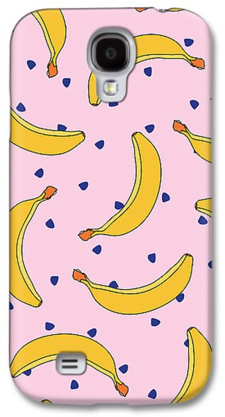 B-a-n-a-n-a-s Galaxy S4 Case by Elizabeth Tuck