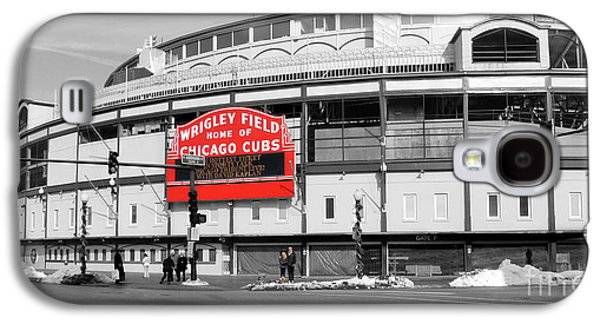 Chicago Galaxy S4 Cases - B-W Wrigley 100 Years Young Galaxy S4 Case by David Bearden