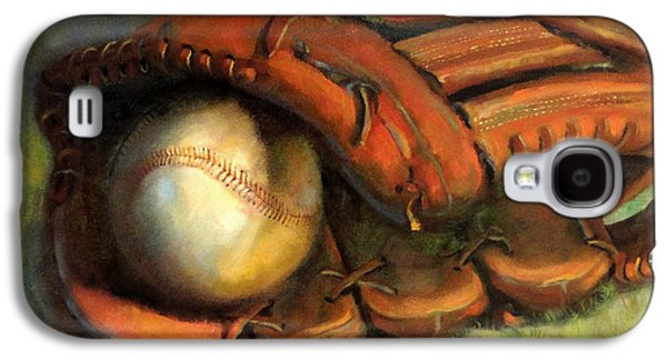 Roberto Clemente Paintings Galaxy S4 Cases - Babe Ruth Tribute Baseball Yankees Buy Babe Ruth Galaxy S4 Case by Hall Groat II