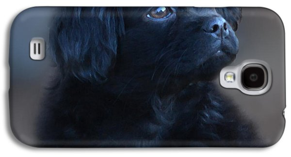 Puppies Digital Galaxy S4 Cases - Baby BernardO Galaxy S4 Case by Mike  Quesinberry