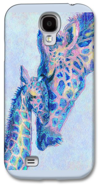 Giraffe Digital Galaxy S4 Cases - Baby Blue  Giraffes Galaxy S4 Case by Jane Schnetlage