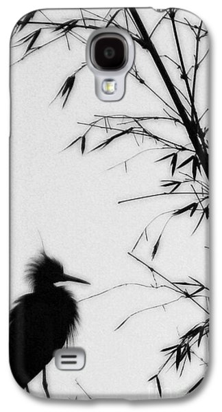 Baby Egret Waits Galaxy S4 Case by Linda Knorr Shafer
