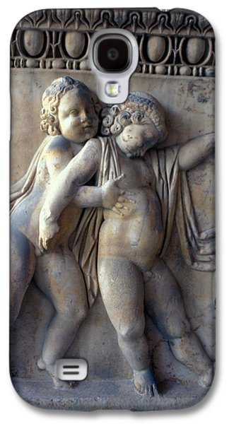 Bas Relief Reliefs Galaxy S4 Cases - Bacchus with Friend Galaxy S4 Case by Carl Purcell