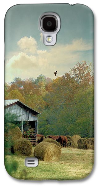 Tennessee Hay Bales Galaxy S4 Cases - Back At The Barn Again Galaxy S4 Case by Jan Amiss Photography