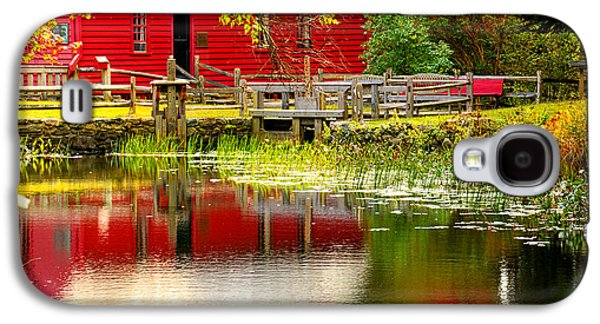 Grist Mill Paintings Galaxy S4 Cases - Back In Time - Gilbert Stuart Museum Galaxy S4 Case by Lourry Legarde