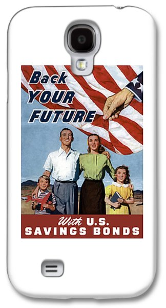 American Flag Mixed Media Galaxy S4 Cases - Back Your Future With US Savings Bonds Galaxy S4 Case by War Is Hell Store
