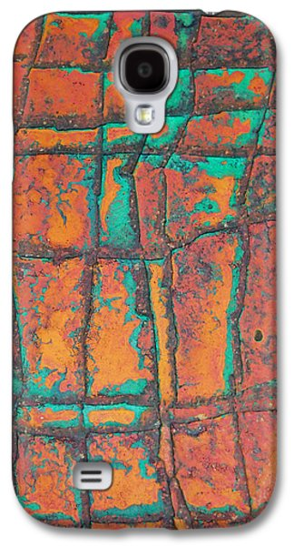 Weathered Reliefs Galaxy S4 Cases - Background Old Art Stone  Galaxy S4 Case by Jumnian Barisee