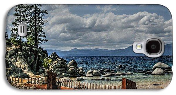 Beach Landscape Galaxy S4 Cases - Backyard Paradise Galaxy S4 Case by DayDream Images by Nancy Tsuzaki