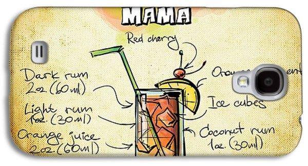 Digital Drawings Galaxy S4 Cases - Bahama Mama Recipe Galaxy S4 Case by Alexas Fotos