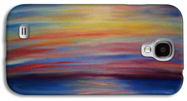 Sunset Abstract Pastels Galaxy S4 Cases - Bahamas Sunrise Galaxy S4 Case by Dorneisha Batson