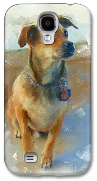 Dogs Digital Art Galaxy S4 Cases - Baja The Dog Galaxy S4 Case by Robin  Waters